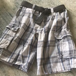✨Men's Plaid Cargo Shorts Sz 30